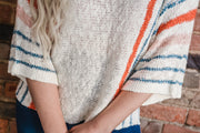 Multi Stripe Slub Sweater S-2X