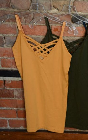 Lattice Front Cami- Mustard-Tank-9Lilas