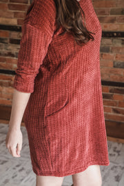 Burgundy Chenille Dress S-XL