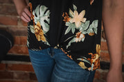 Hawaiian Floral Stripe Top S-3X
