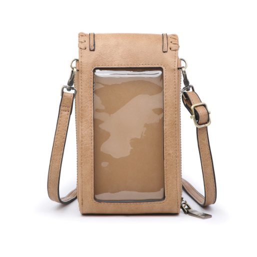 Mint Whipstitch Touchscreen Crossbody