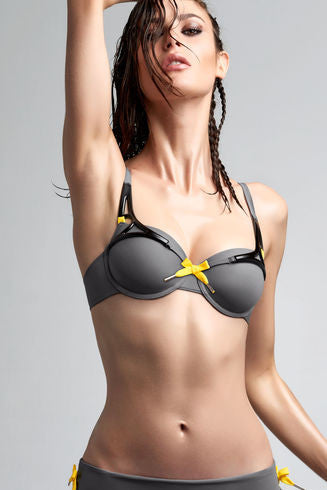 Marlies Dekkers Lagertha's Journey Swim Plunge Smoked Pearl