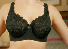 Elila Stretch Lace Full Coverage Underwire Black