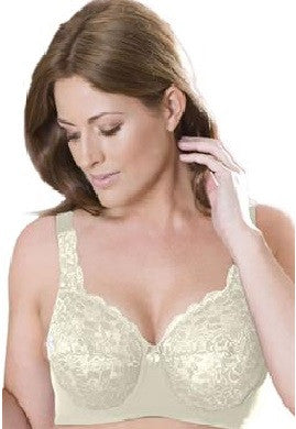 Elila Stretch Lace Full Coverage Underwire Ivory