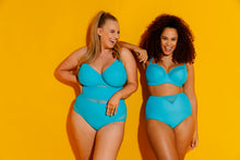 Curvy Kate Sheer Class High Waist Bikini Brief Turquoise