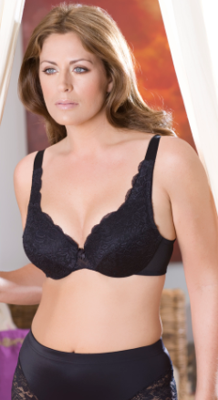 Elila Stretch Lace Underwire Black
