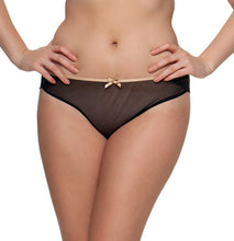 Curvy Kate Ellace Brazilian Brief Black Champagne