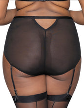 Curvy Kate Sparks Fly High Waist Suspender Brief Black/Silver