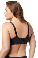 Elila Black Microfiber Underwire Sports Bra