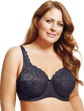 Elila Stretch Lace Full Coverage Underwire Steel Grey
