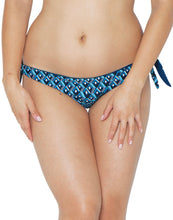 Curvy Kate Wanderlust Reversible Tie Side Brief Blue Mix