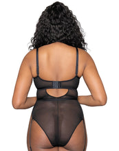 Curvy Kate Sparks Fly Plunge Body Black/Silver