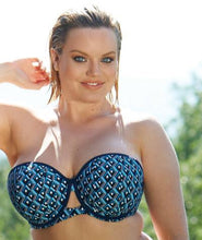 Curvy Kate Wanderlust Bandeau Bikini Top Blue Mix