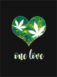 One Love Marijuana Men's T-Shirt