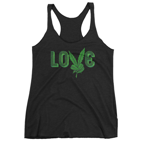 Peace. Love. Marijuana. Women's Tank Top