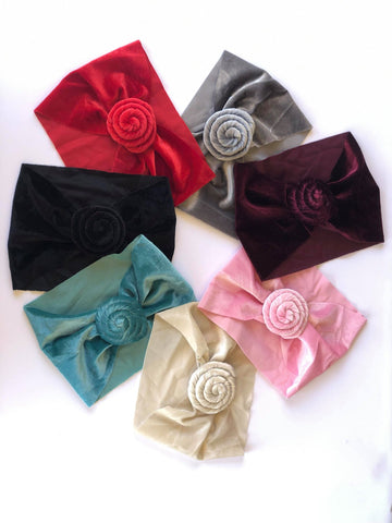 Velvet Rose Headwraps - All colors