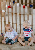 Copper Pearl Bandana Bib Set- Patriot