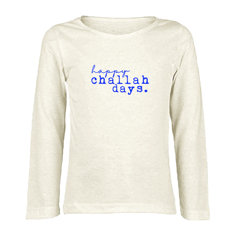 Tenth and Pine Long Sleeve Tee-  Happy Challah Days