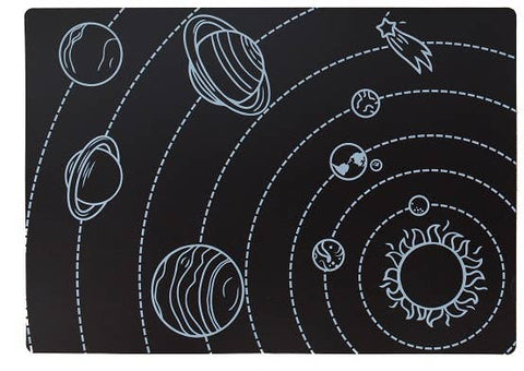 Chalkboard Solar System Placemat