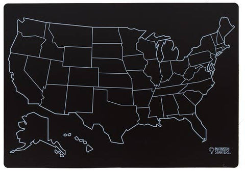Chalkboard Map Placemat