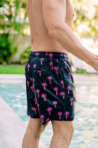 Beau Hudson Men's Neon Palm Swim Shorts