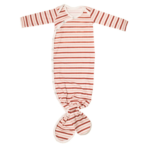 Newborn Knotted Gown- Cinnamon