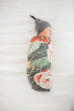 Copper Pearl Knit Swaddle Blanket- Raven
