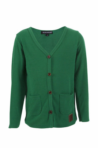 Beau Hudson Signature Cardigan- Grass Green