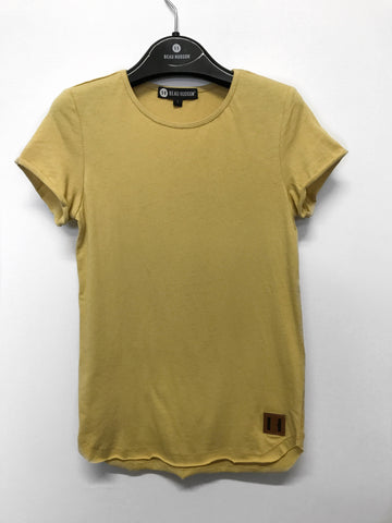 Beau Hudson Raw Edge Mustard Tall Tee- Kids