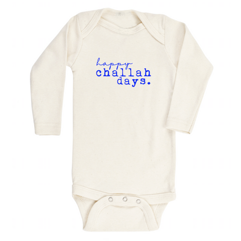 Tenth and Pine Long Sleeve Bodysuit-  Happy Challah Days