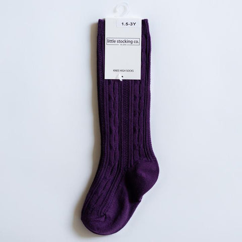 Plum Knee High Socks