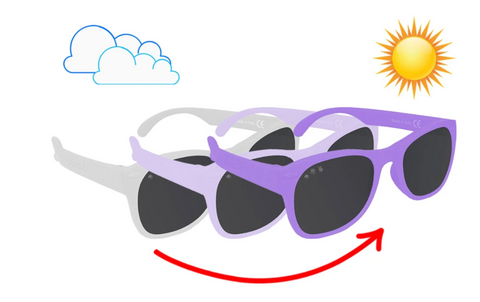 Color Changing Polarized Sunglasses- Purple