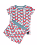Short Sleeve Pajama Set with Shorts- Ocean Arches