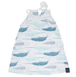 Egyptian Dress- Blue Narwhal Bliss