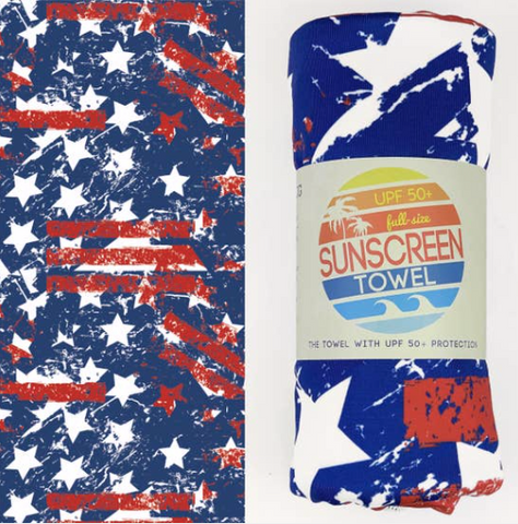 UPF 50+ Suncreen Towel -  Stars and Stripes