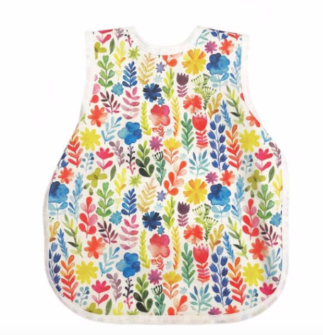 Bapron Baby - Rainbow Watercolor Floral