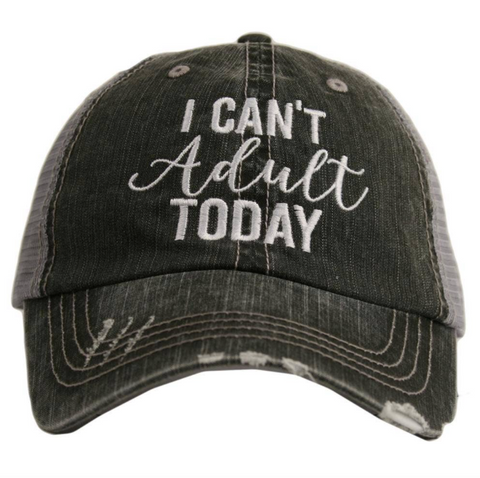 Women's Trucker Hat - I Can't Adult Today