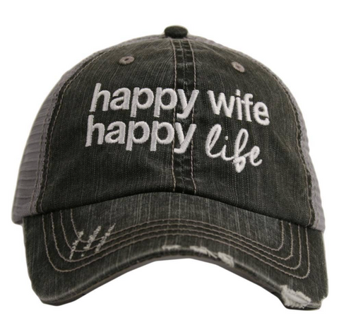 Women's Trucker Hat - Happy Wife Happy Life