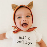 Tenth and Pine Short Sleeve Bodysuit- Milk Belly