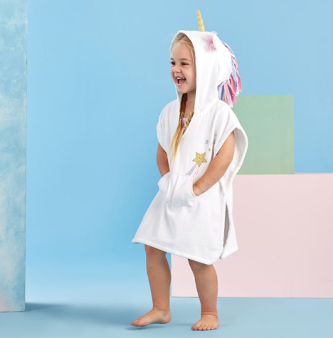 Mud Pie Hooded Unicorn Cover Up