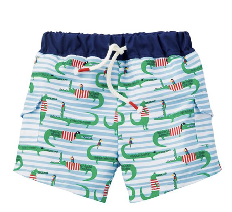 Mud Pie Alligator Swim Trunks