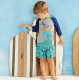 Mud Pie Surfing Dog Swim Trunks
