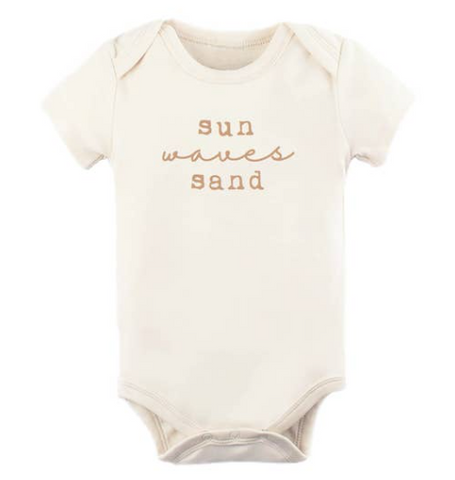 Tenth and Pine Short Sleeve Bodysuit- Sun Sand and Waves