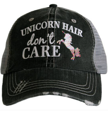 Kid's Trucker Hat - Unicorn Hair Don't Care