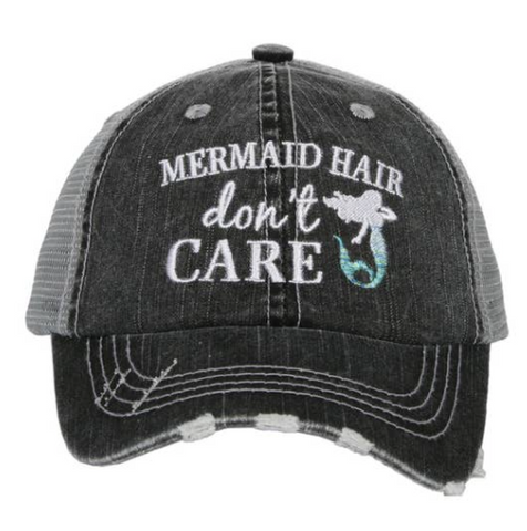 Kid's Trucker Hat - Mermaid Hair Don't Care