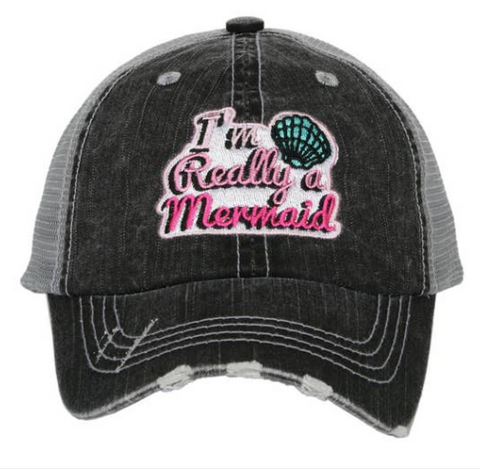 Kid's Trucker Hat - I'm Really A Mermaid