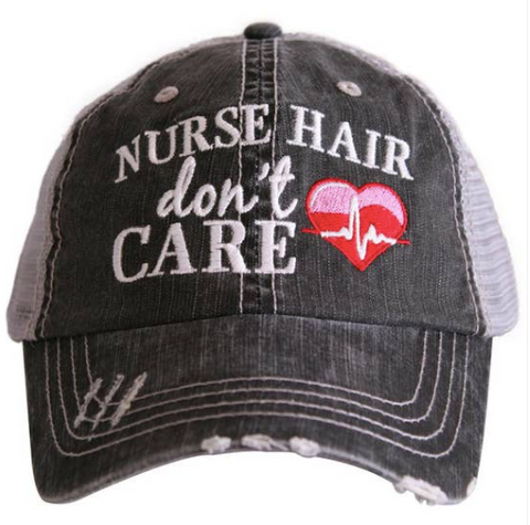 Women's Trucker Hat - Nurse Hair Don't Care