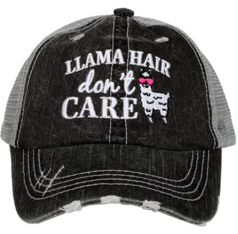 Kid's Trucker Hat - Llama Hair Don't Care
