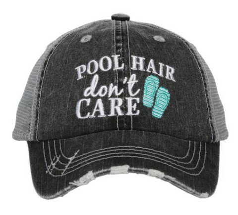 Kid's Trucker Hat - Pool Hair Don't Care