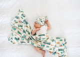 Copper Pearl Knit Swaddle Blanket- Bruno
